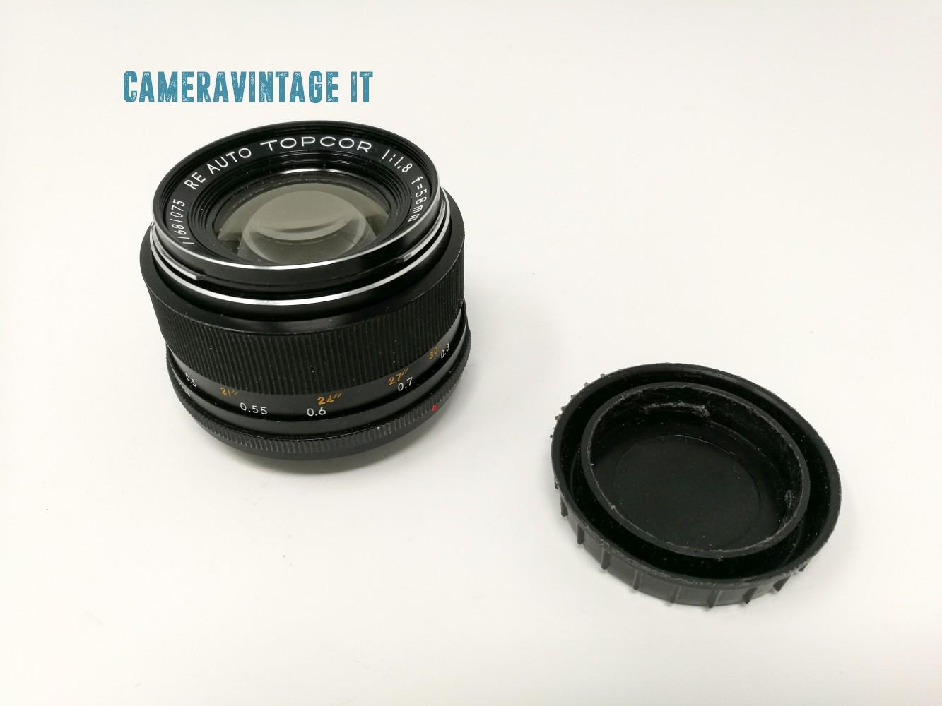 TOPCORTOKYO KOGAKU RE AUTO TOPCOR f/1,8 58mm